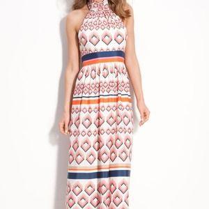 NEW DESIGNER Eliza J Tie Neck Maxi Dress Halter 8