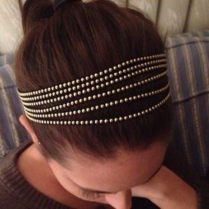 Black Faux Suede Elastic Headband