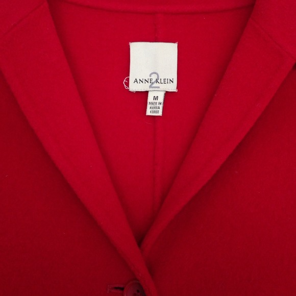 Anne Klein Jackets & Coats - Red wool blend coat