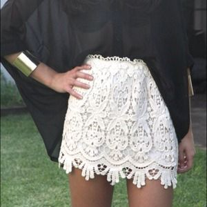 Dresses & Skirts - Lace mini skirt size xs pink one is available