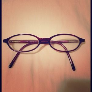 VALENTINO PURPLE OVAL FRAME EYEGLASSES