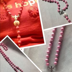 Jewelry - Breast Cancer Survivor Rosary Necklace