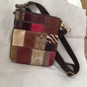 Coach Handbags - USED Coach patchwork crossbody