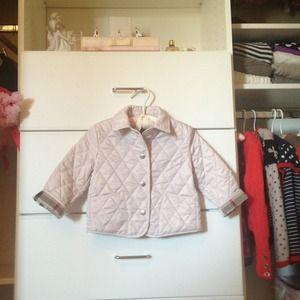 Burberry pink children's quilted jacket