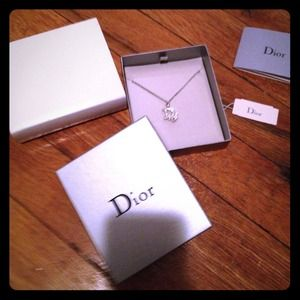 Dior Jewelry - Authentic Dior rhinestone necklace with gift box