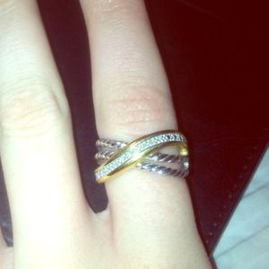 Sterling silver and gold plated ring