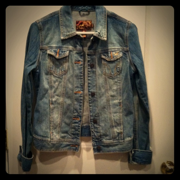 50% off Hollister Denim - Old School Hollister jean denim jacket ...