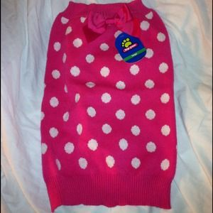 ReducedDoggy polka dot sweater