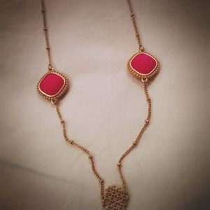 Jewelry - 🎈REDUCED🎈Hot Pink Detail Long Necklace