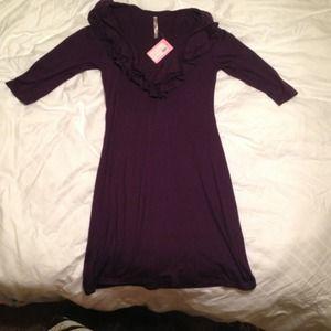 Dresses & Skirts - NWT Ruffle Purple dress REDUCED!!