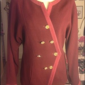 Vintage Chanel Burgandy Jacket