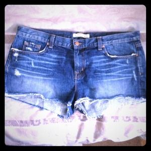 J Brand cut off jean shorts