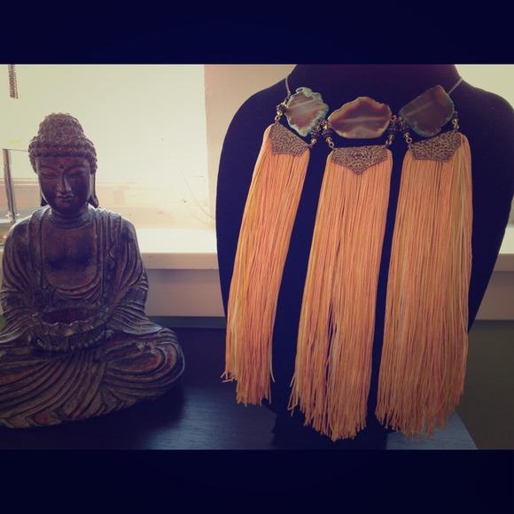 Nazari Pau  Jewelry - 🔥SOLD🔥 Mimi Scholer 3 stone tassel necklace 🔮