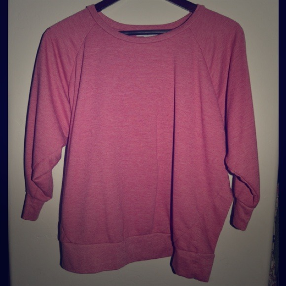60% off cotton on Sweaters - Pink cotton on semi long sleeve shirt ...