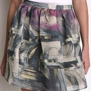 Urban Outfitters Silence & Noise Watercolor Skirt