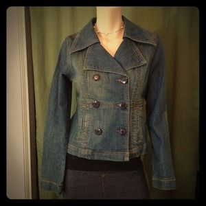 Denim - Jean double breasted jacket