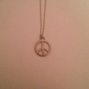 Cara  Jewelry - Cara couture peace sign necklace