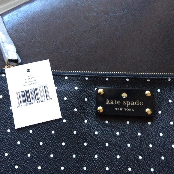kate spade Clutches & Wallets - 🎉HP 2/27‼️🎉Kate Spade Blk/White Polka Dot clutch 3