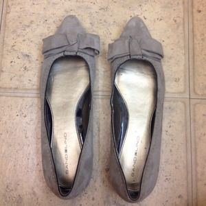 Brand new grey suede flats