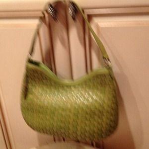 Elliot Lucca green braided shoulder bag