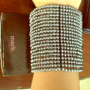Mark by Avon Jewelry - Mark by Avon beaded grey/silver cuff bracelet.