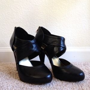 H&M Shoes - Black H&M Cut-Out Heels