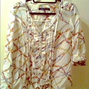 Zara button up Blouse