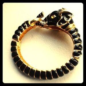 Kenneth Jay Lane hinged elephant bangle bracelet