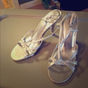 Very nice silver sandals