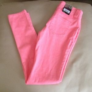 Blue Spice Jeans - RESERVED Coral pink skinnies size 1