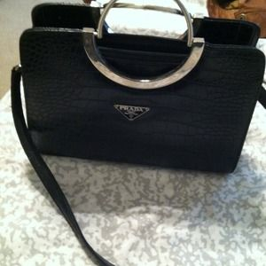 prada wallet on chain - 100% off Prada Handbags - Sold! Vintage Jackie O style inspired ...
