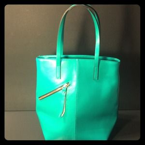 Aquamarine blue Shoulder Bag