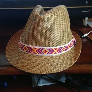 Charlotte Russe Aztec Summer Fedora Hat