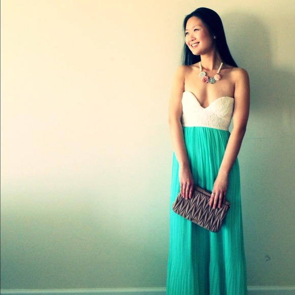 Sabo skirt mint tea dress maxi