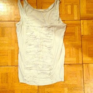 J Crew tank top with ruffle detailing
