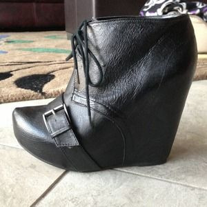 Steve Madden wedge booties