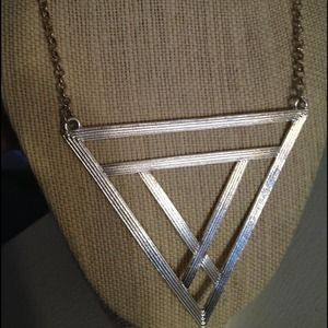 Abstract Triangle Statement Necklace Bib