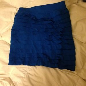 Blue spandex skirt one size