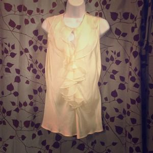 FLOR's BUNDLE!!! Cream Sleeveless Blouse/ DKNY Top