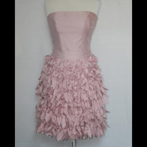 63% off Donna Reiss Dresses & Skirts - Pink feather dress from ...