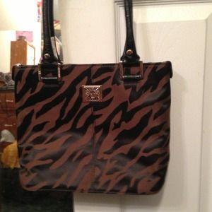 Brown/black purse NWOT