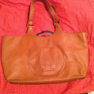 Authentic Tory Burch Leather Tote