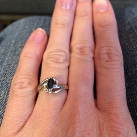 51% off Rogers & Hollands Jewelry - White gold sapphire ...