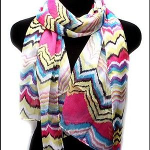 Missoni Accessories - Missoni style chevron lightweight scarf BNWOT!