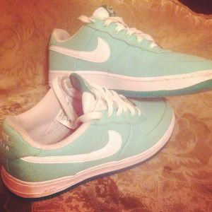 Sea foam green Nike sb's