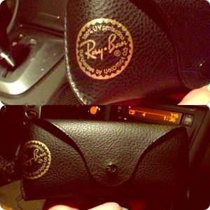 Ray Ban authentic glasses case