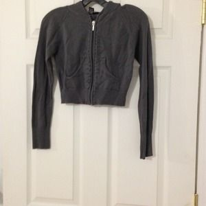 Gray Hooded Sweater rue21 Size M