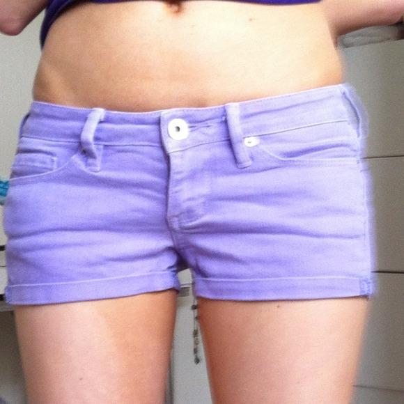 64% off Bullhead Pants - Bullhead purple denim shorts size 1 from ...