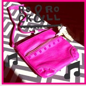 Pink crossbody with studs NWT