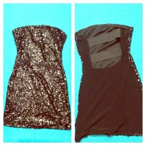 Papaya Dresses & Skirts - Sequin sexy mini dress with cut out back!